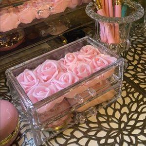Everlasting roses acrylic jewelry box